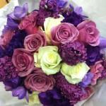 lilac freesia roses