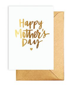 White Mothers Day Card