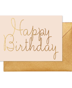 Pink Birthday Wishes Card