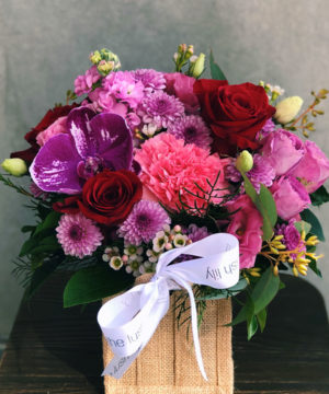 violet-flower-arrangement-brisabne-flower-delivery-lush-lily
